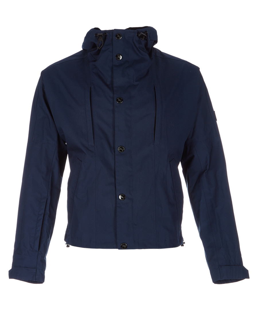 Men's navy cotton blend jacket Sale - burberry