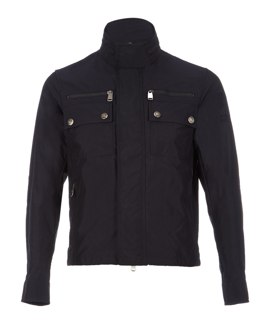 Men's navy high-neck jacket Sale - burberry