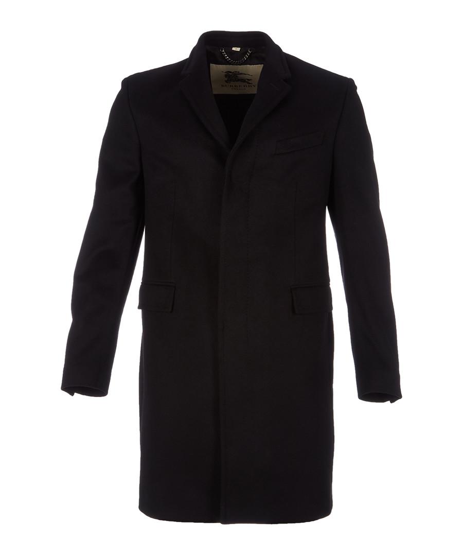 Men's black wool & cashmere coat Sale - burberry
