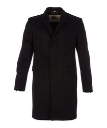 Men's black wool & cashmere coat