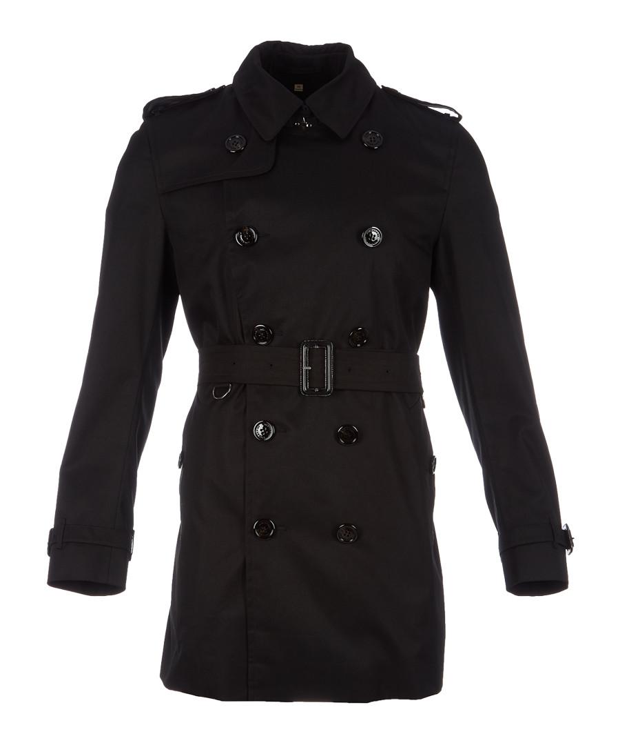 Men's black wool & cashmere belted coat Sale - burberry