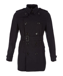Men's navy pure cotton belted coat