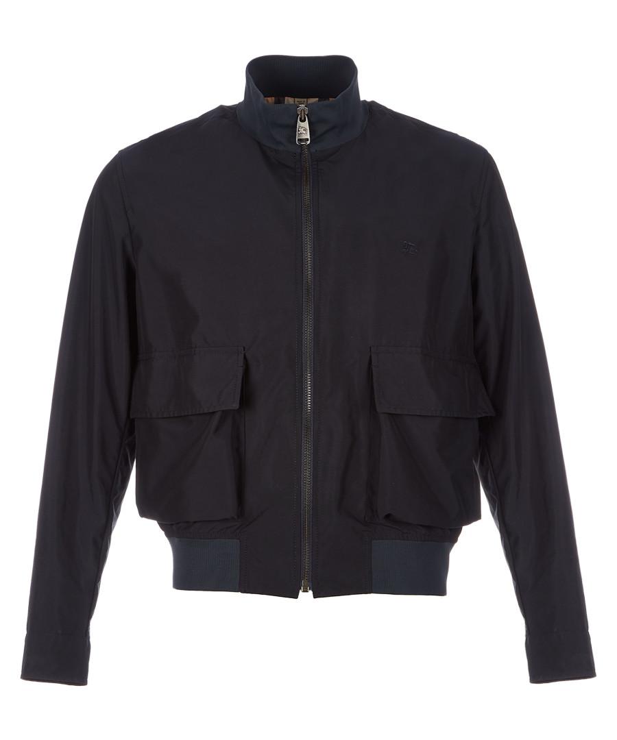 Men's navy zip-up jacket Sale - burberry