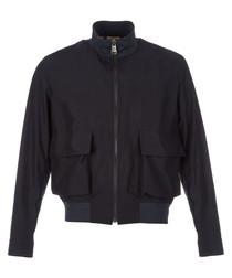 Men's navy zip-up jacket