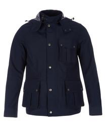 Men's marine blue pocket jacket