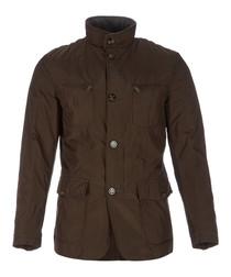 Men's khaki high-neck jacket