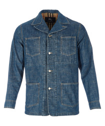 Men's pure cotton denim jacket