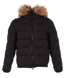 Men's jet black padded jacket