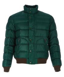 Men's racing green padded jacket