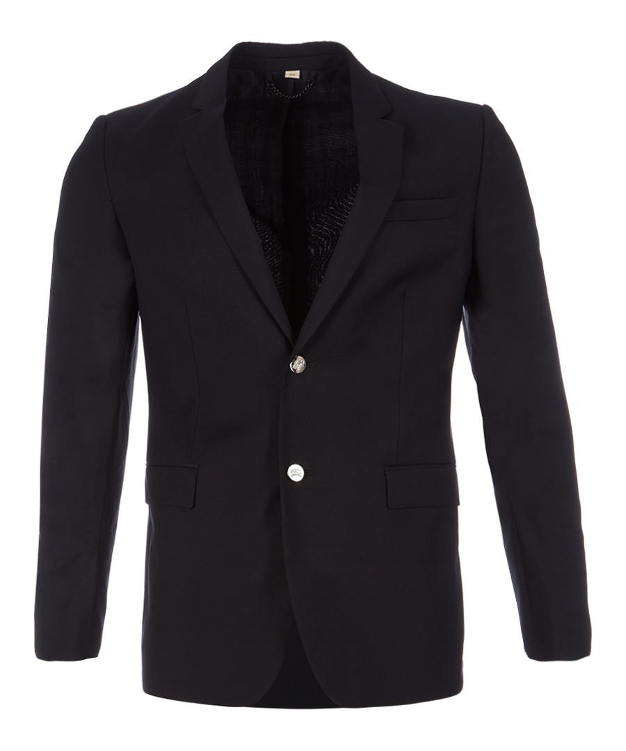 Men's navy pure virgin wool jacket Sale - burberry