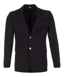 Men's navy pure virgin wool jacket