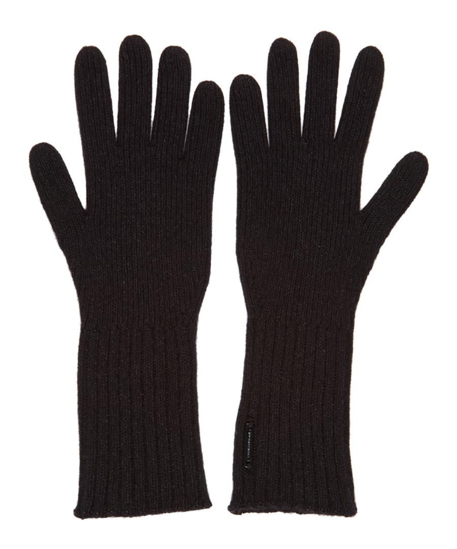 men's cash black cashmere blend gloves Sale - burberry