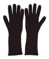 men's cash black cashmere blend gloves