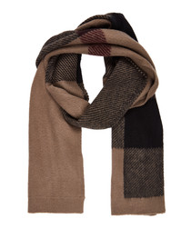 nutmeg pure wool scarf