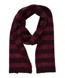 port stripe pure wool scarf