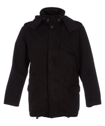 Men's black pure cotton jacket
