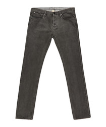 Men's grey pure cotton jeans