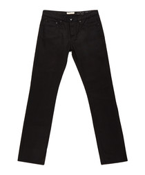 Men's black pure cotton jeans
