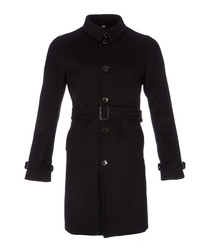Men's black belted coat