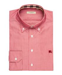 men's red pure cotton shirt