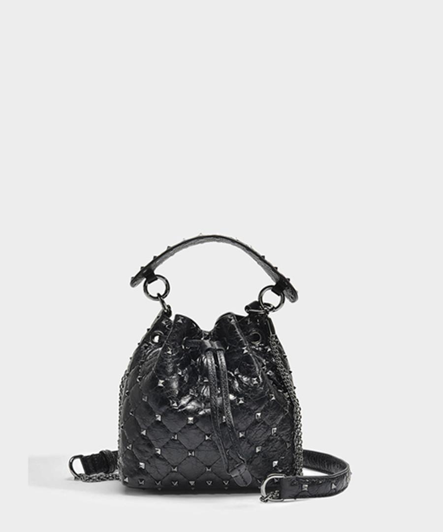 Rockstud Spike Small lambskin bucket bag Sale - Valentino Garavani