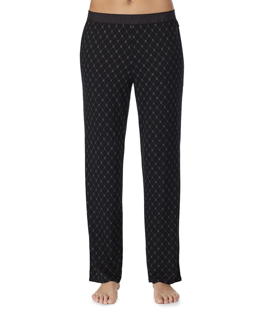 Black print pyjama trousers Sale - dkny