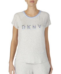 Grey lounge logo T-shirt