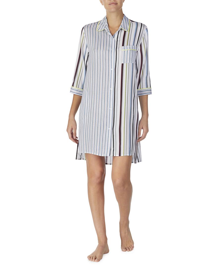 Multi-colour stripe button-up shirt Sale - dkny