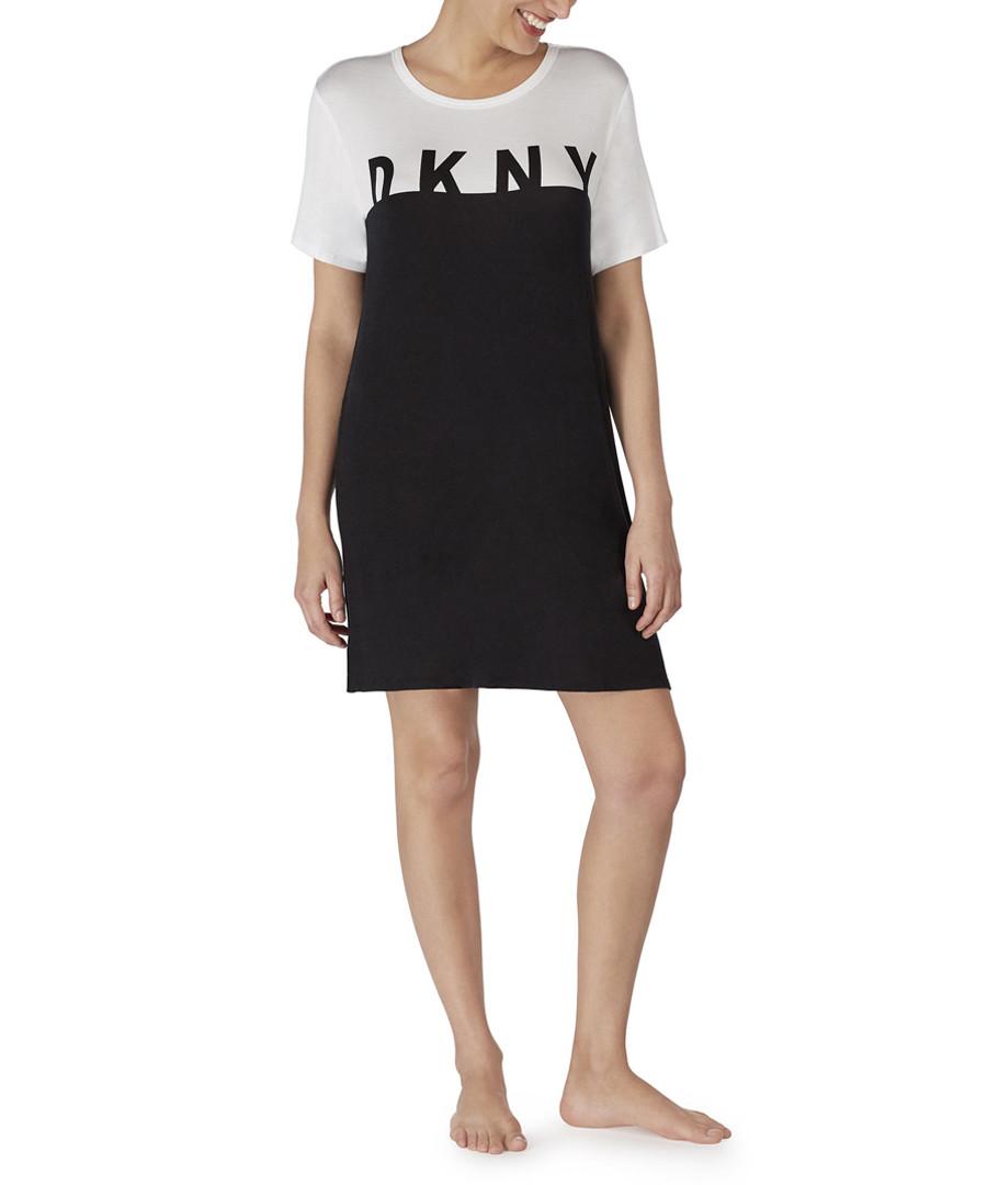 Black & white logo night shirt Sale - dkny