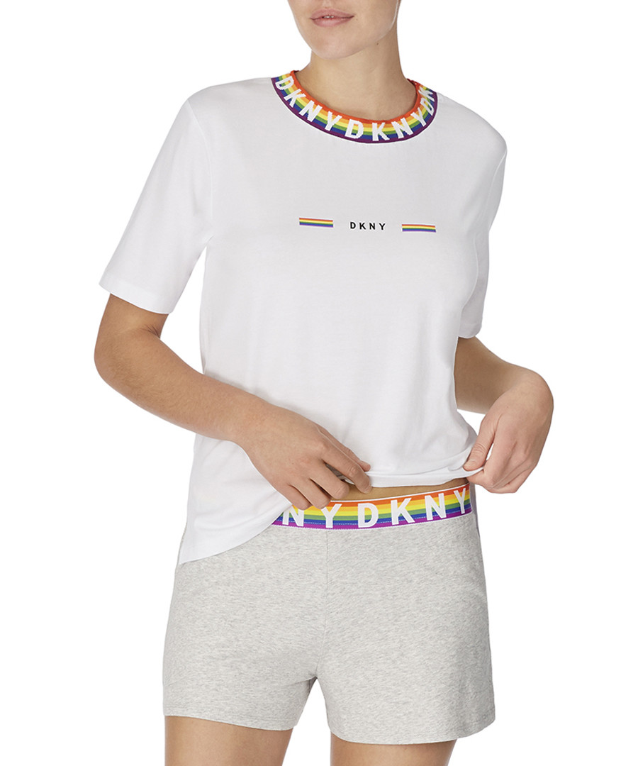 Grey rainbow print boxer pyjama set Sale - dkny
