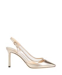 erin silver-tone slingback heels