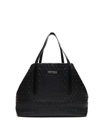 pimlico black leather shopper