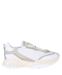 raine white suede sneakers