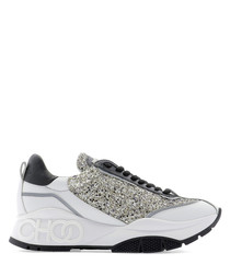 raine champagne leather glitter sneakers