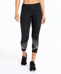 bright stride black capri leggings
