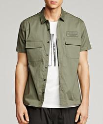 olive cotton short sleeve shirt