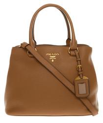 Phenix Vitello brown leather tote