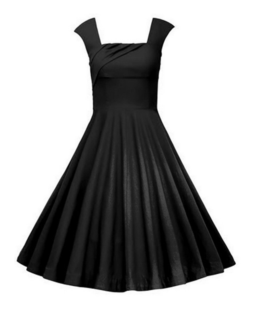 Black fit & flare dress Sale - Mixinni
