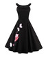 Black applique boat neck dress Sale - mixinni Sale