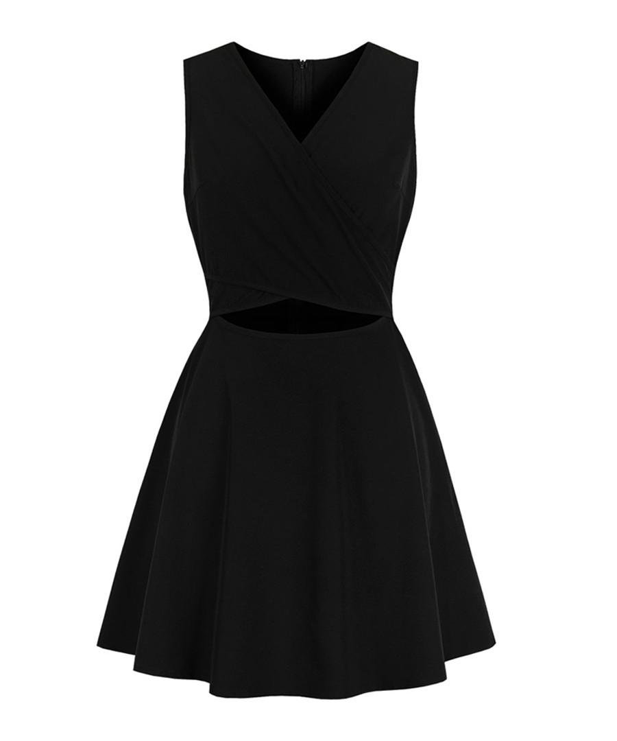 Black sleeveless mini dress Sale - mixinni