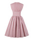 Pink print button A-line dress Sale - Mixinni Sale