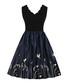 Black & midnight scallop edge dress Sale - Mixinni Sale