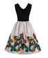 Black scallop edge butterfly dress Sale - Mixinni Sale