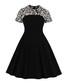 Black leopard print short sleeve dress Sale - Mixinni Sale