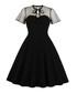 Black polka dot short sleeve dress Sale - Mixinni Sale