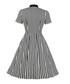 Black & white stripe A-line dress Sale - Mixinni Sale