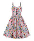 Pink floral print A-line dress Sale - Mixinni Sale