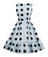 Blue & black polka dot dress Sale - Mixinni Sale