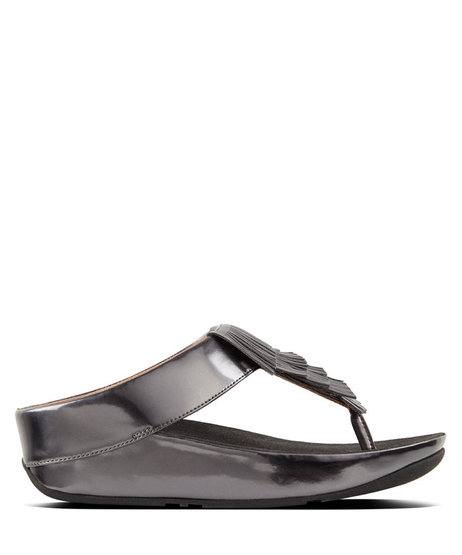 Cha Cha metallic fringe toe-post sandals Sale - fitflop