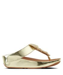 Cha Cha gold-tone fringe sandals